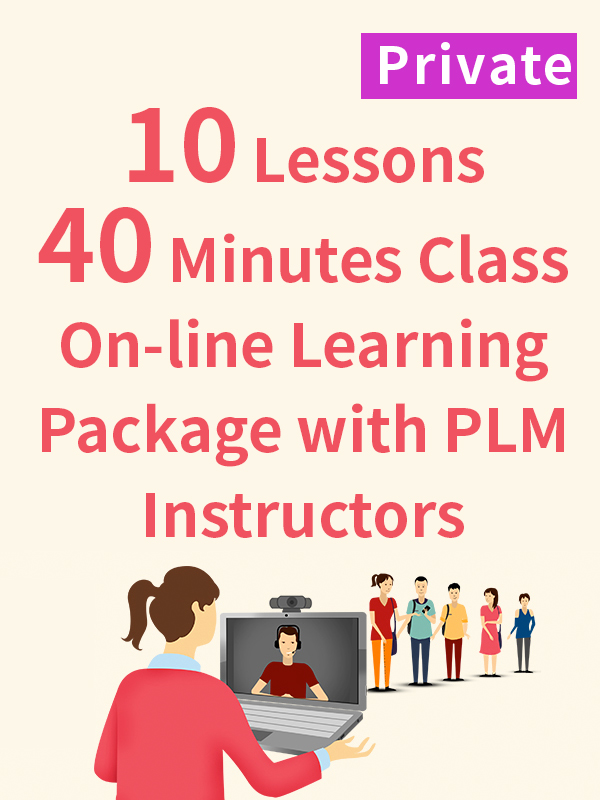 Private On-line Learning Package with PLM Instructors - 10 Lessons - 40 Minutes
