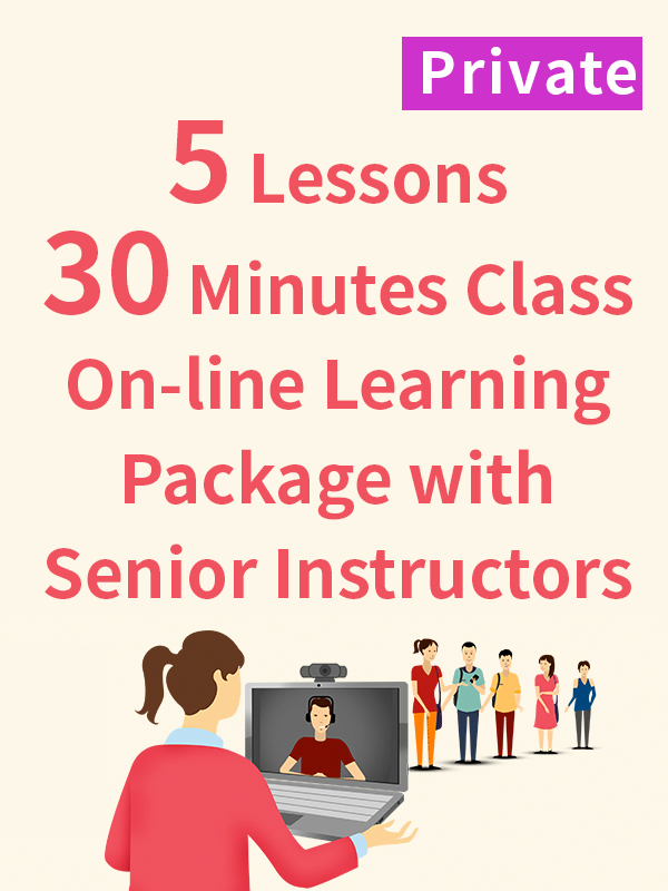 Private On-line Learning Package with Senior Instructors - 5 Lessons - 30 Minutes
