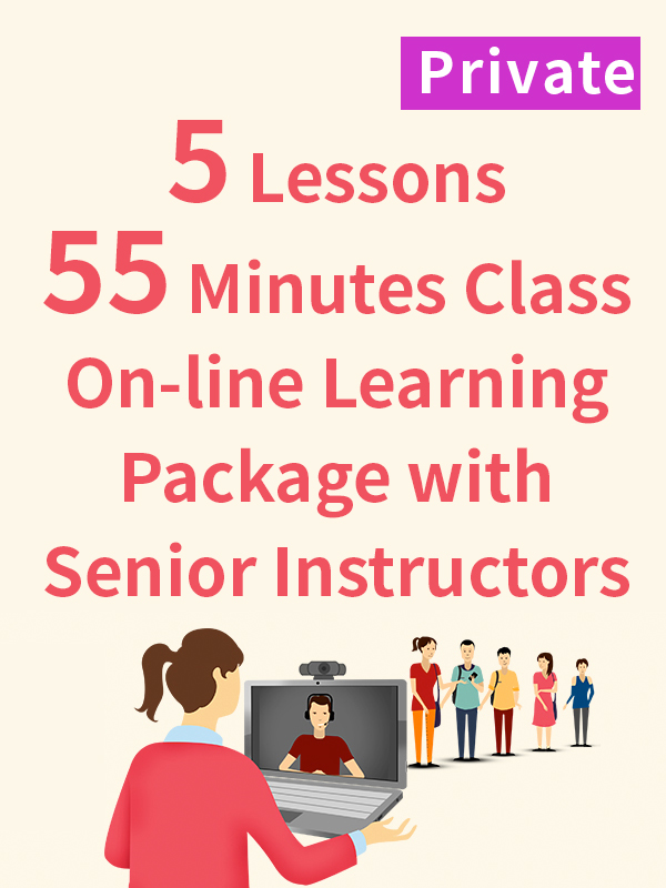 Private On-line Learning Package with Senior Instructors - 5 Lessons - 55 Minutes